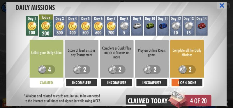 how to earn more platinum in world cricket championship 3