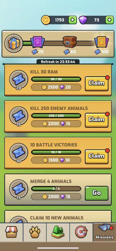 animal warfare missions