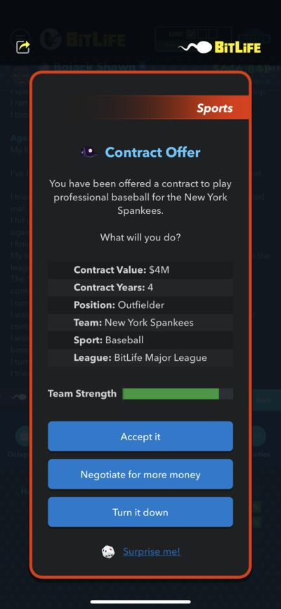 how to get a rookie baseball contract in bitlife