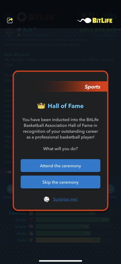 how to get into the basketball hall of fame in bitlife