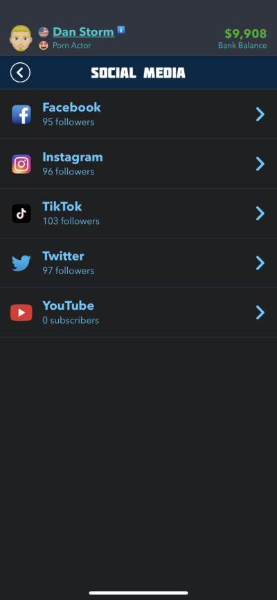 social media accounts in bitlife