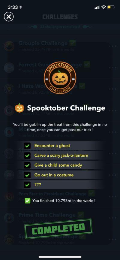 bitlife spooktober challenge requirements