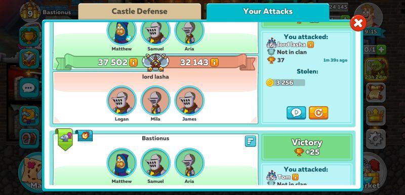 hustle castle power
