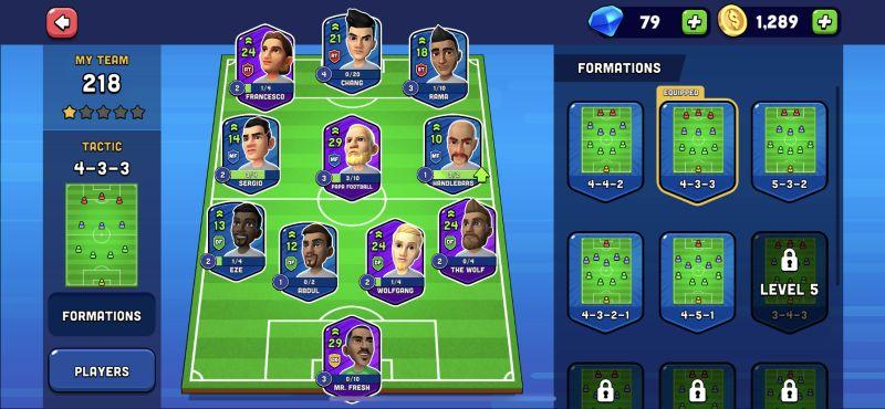 mini football team formation