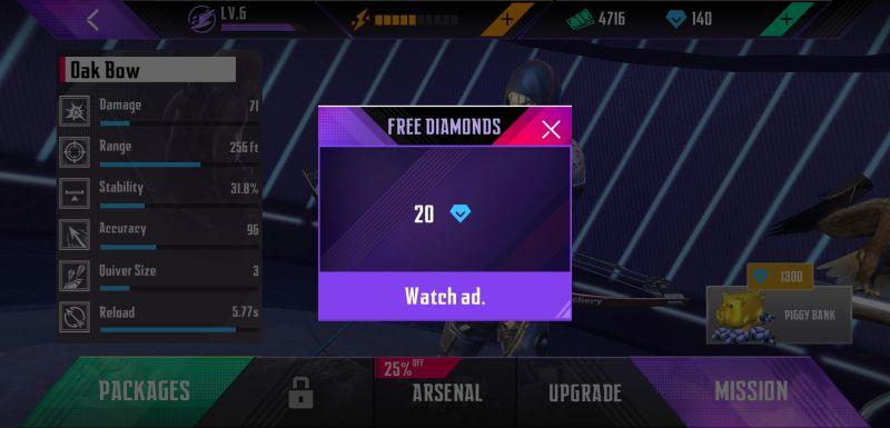 how to earn free diamonds in ninja's creed