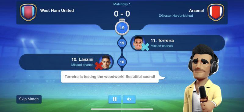 онлайн-футбольный менеджер 20-21 матч