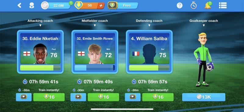 как тренировать игроков в онлайн-футбольном менеджере 20-21