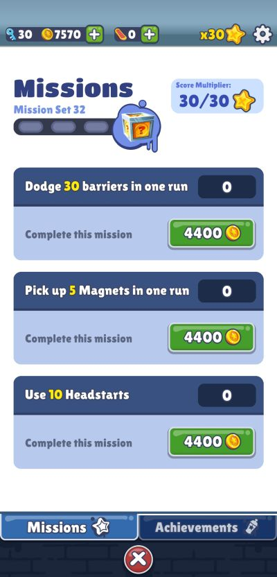 subway surfers missions