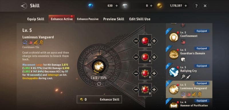 how to enhance skills in a3 still alive