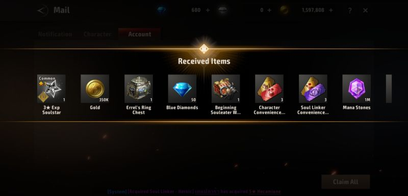 received items in a3 still alive