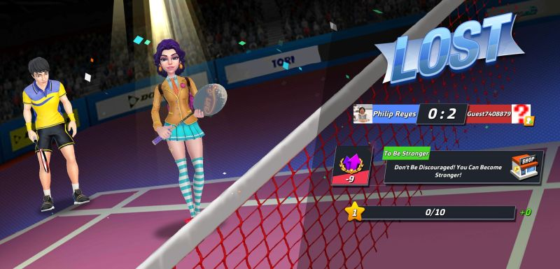 badminton blitz practice match