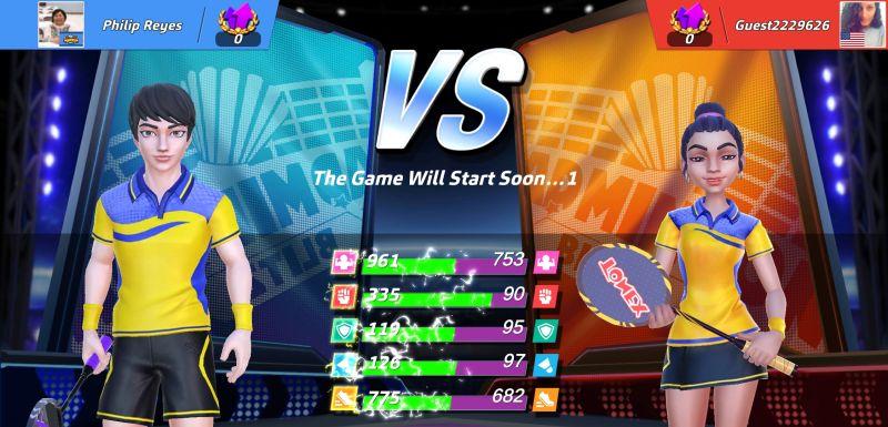 badminton blitz stats