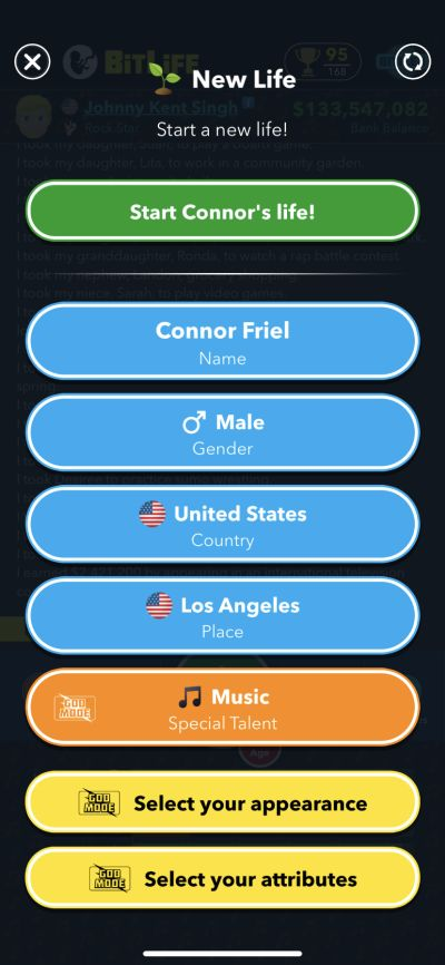 music talent in bitlife
