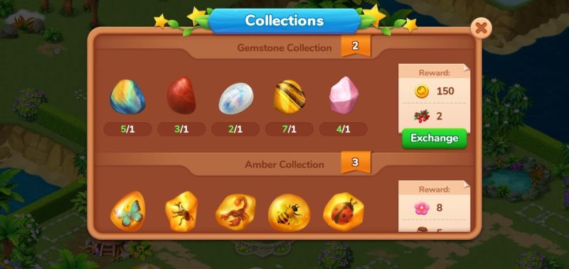 gemstone collection in dragonscapes adventure