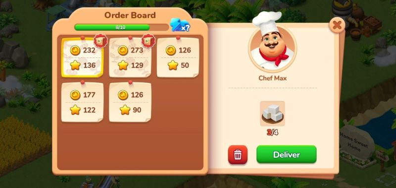 how to complete orders in dragonscapes adventure