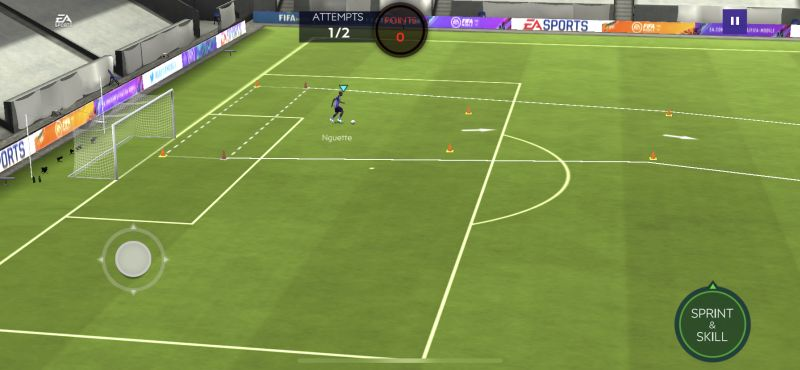 fifa 21 mobile sprint and skill