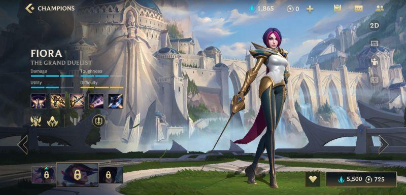 fiora league of legends wild rift