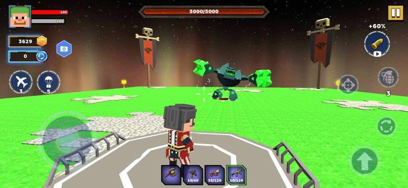 fire craft 3d pixel world boss fight