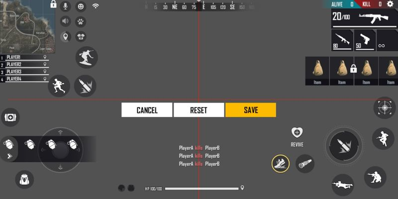 best control settings in garena free fire booyah day