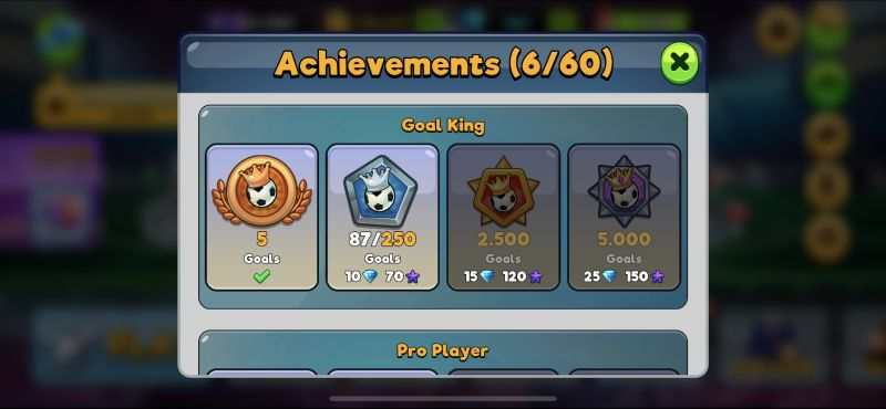 how to complete more achievements in head ball 2