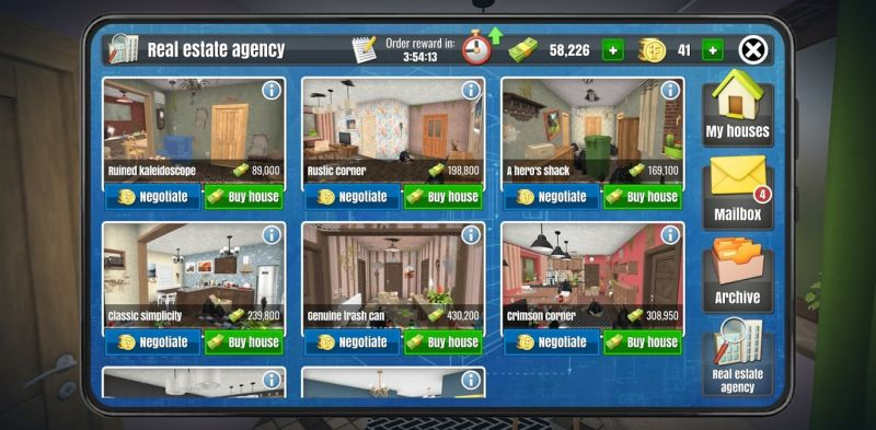 buying a house in house flipper