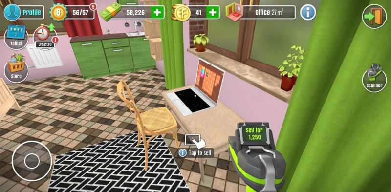 selling items in house flipper