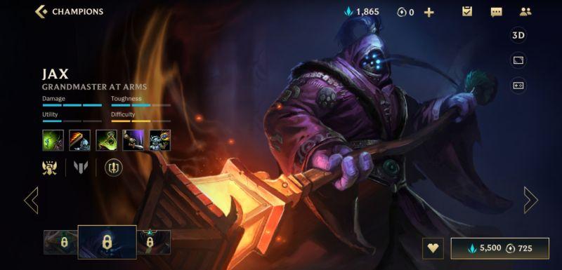 jax build league of legends wild rift
