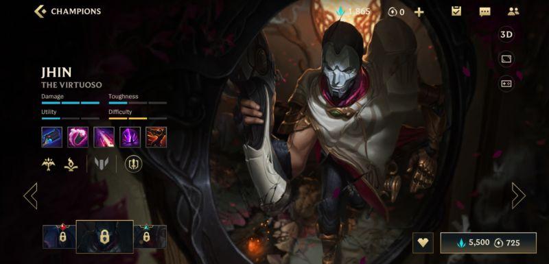 jhin build league of legends wild rift