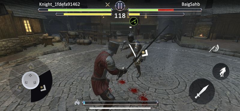 knights fight 2 weapons