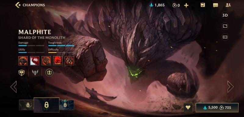 malphite build league of legends wild rift