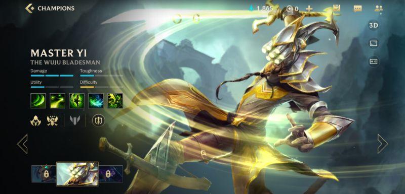 master yi build league of legends wild rift