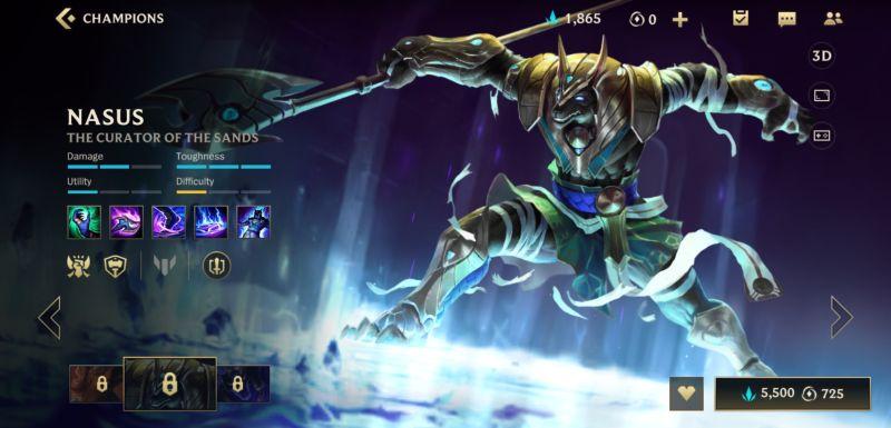 nasus build league of legends wild rift