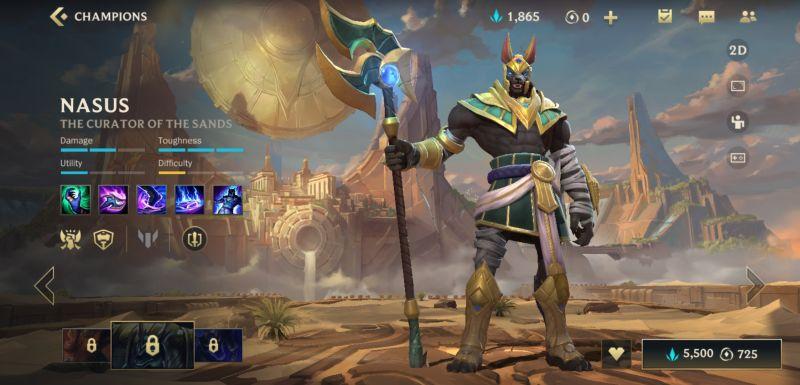 nasus league of legends wild rift