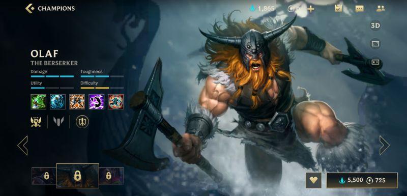 olaf build league of legends wild rift