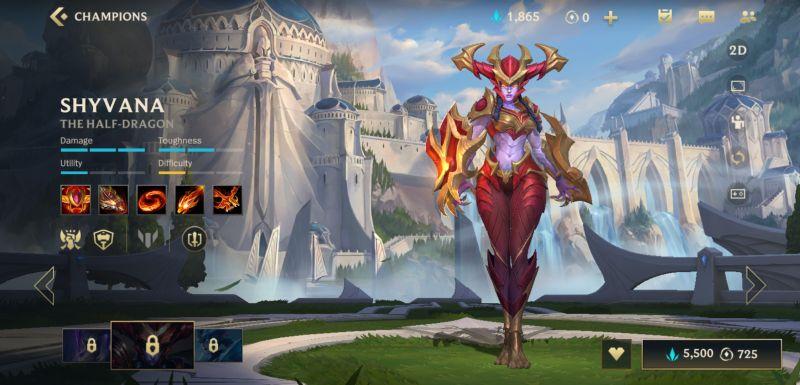 shyvana league of legends wild rift
