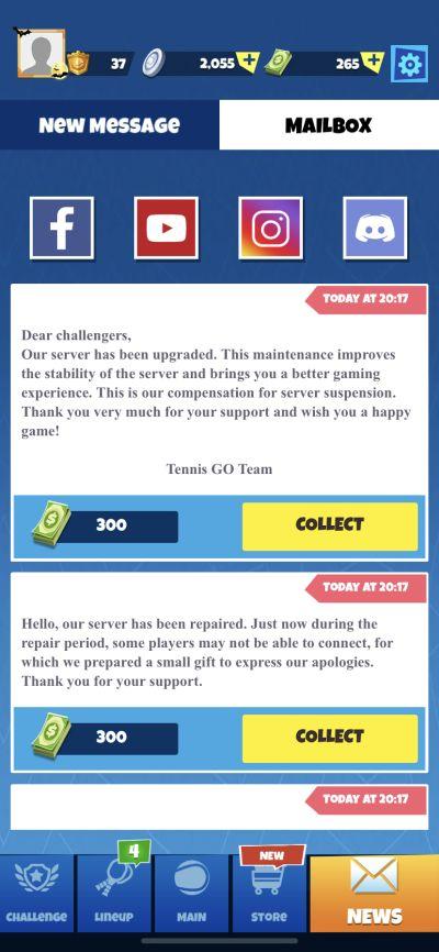 tennis go world tour 3d mailbox