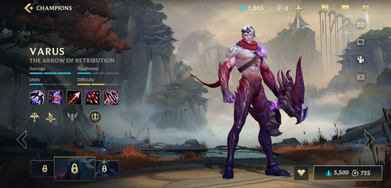 varus league of legends wild rift