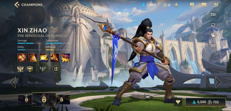 xin zhao league of legends wild rift