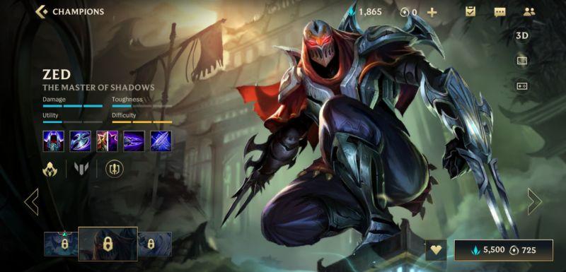zed build league of legends wild rift