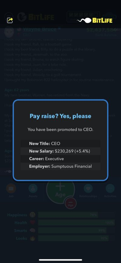 how to get promoted to ceo in bitlife