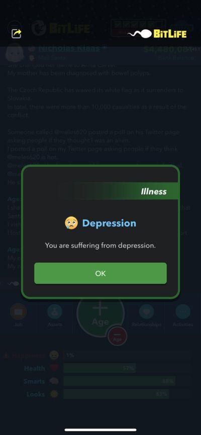 depression in bitlife