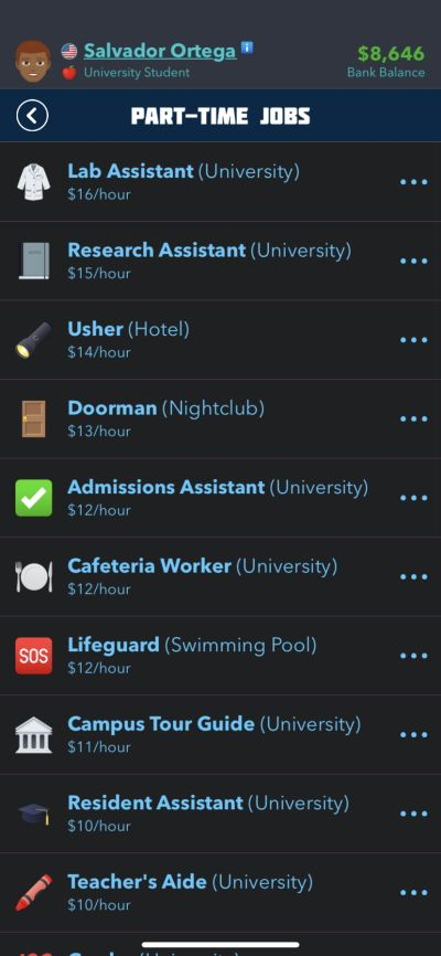getting a part-time job in bitlife