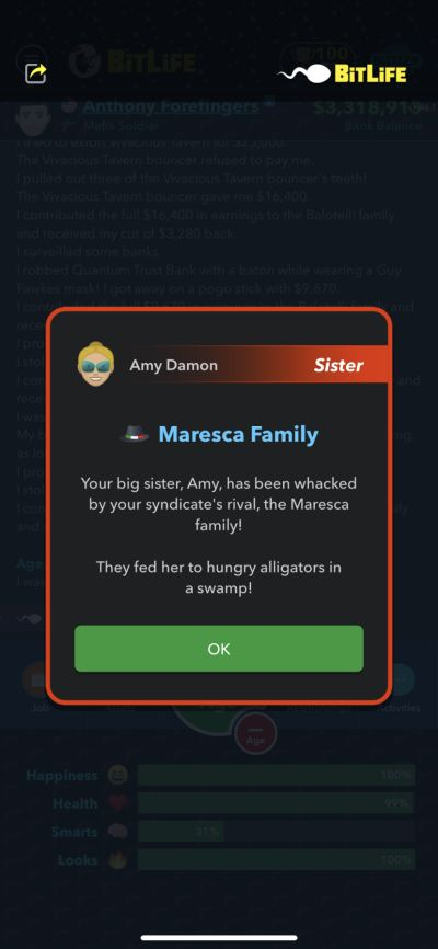 dealing with a rival syndicate in bitlife