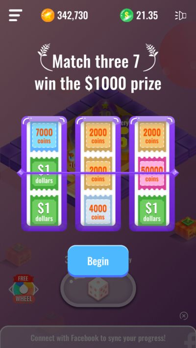 how to win prizes with the slot machine in dice royale