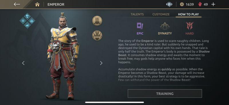 emperor shadow fight arena