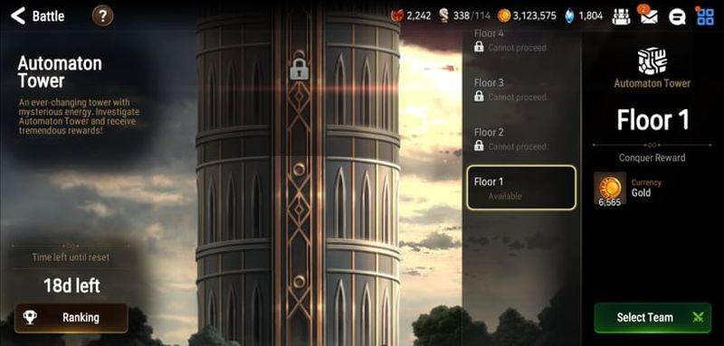 automaton tower in epic seven