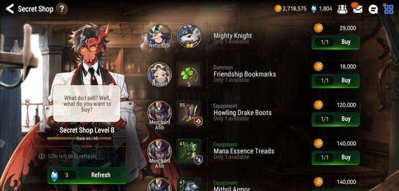 epic seven secret shop