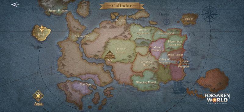 Покинутый мир богов и демонов Калиндор