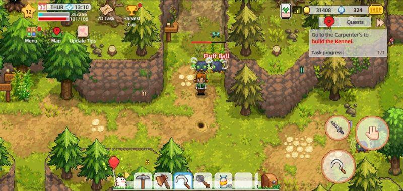 harvest town battle tips