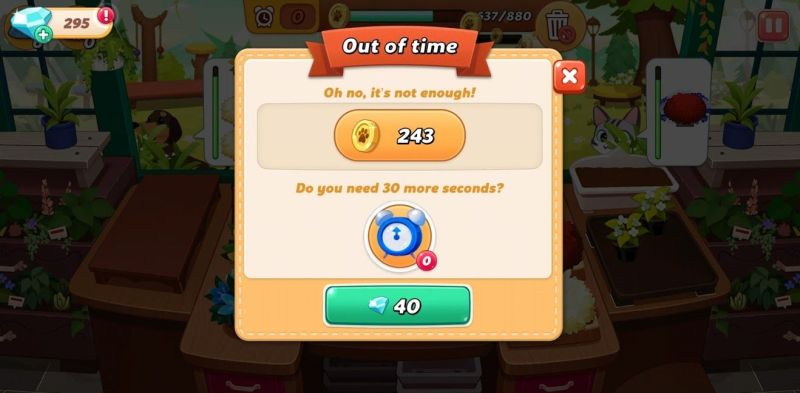 running out of time in hellopet house